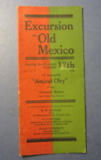 Old 1908 AMIRAL OLRY Steamship Brochure - Excursion to MEXICO from San Francisco