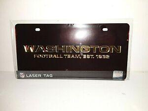 Washington Football Team NFL Red Laser Tag License Plate