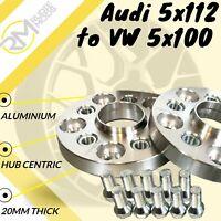 Audi CAR 5x112 57.1 to VW 5x100 20mm Hubcentric PCD Adaptors - Steel Inserts