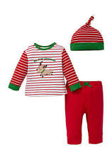 LITTLE ME NEW Boys My 1st Christmas Reindeer Outfit Shirt Pants NWT Sz 12 months