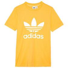 Adidas Originals Adi Trefoil tee Vintage Classic Retro Shirt Real Gold Orange