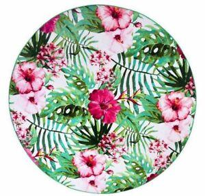 New Hawaiian Palm Floral Round Beach Towel Yoga Mats travel Big Blanket Picnic