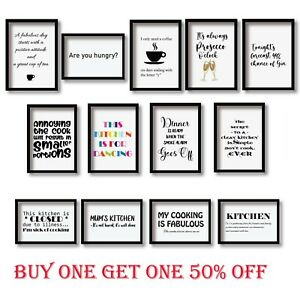 Motivational Inspirational Quotes Print Wall Art Home Decor Prints Kitchen Funny
