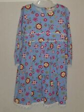 HANNA ANDERSSON Blue Floral Long Sleeve Casual Dress - 130 / 8 - EUC