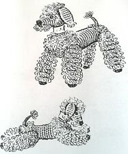 2656 Vintage Mail Order PEPPY THE POODLE Pattern to Crochet (Reproduction)