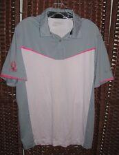 Nike Golf Tour Performance polo shirt S mens 40 C gray white pink Dri Fit