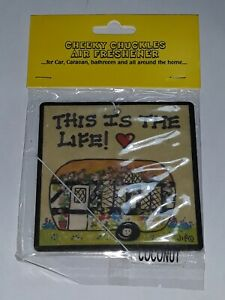 Car air freshener this is the life caravan camping campervan funny Novelty