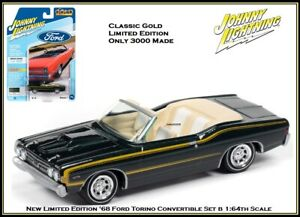 Johnny Lightning 1:64th Diecast Car '68 Ford Fairlane Torino GT Convertible