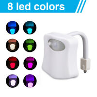 LED Home Toilet Bathroom Human Body Auto Motion Sensor Seat IR Night Light lamp