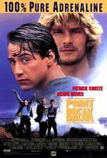 POINT BREAK Movie POSTER PRINT 27x40 Patrick Swayze Keanu Reeves Gary Busey