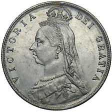 More details for 1890 halfcrown - victoria british silver coin - very nice