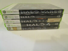 Halo 3, Halo 4 , Halo Wars, Halo Reach & Halo Anniversary for  Xbox 360 VG Cond