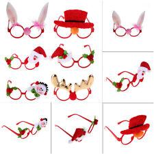 Christmas Glasses Frame Xmas Evening Party Funny Fancy Dress Santa Ornament Gift