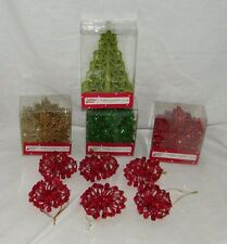 Lot of 78 Glitter Ornaments Stars Christmas Tree Xmas Ornament Star 19044