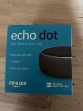 Amazon Echo Dot 3rd Gen Smart Alexa Speaker - Charcoal - UK Plug - NEW & Sealed