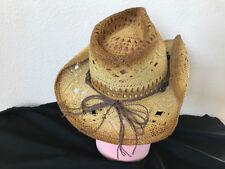 7f976ca0ec08f Bullhide Hat 2355BR Run A Muck Collection Scorched Beige Cowboy Hat Straw L  XL