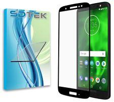 SDTEK Motorola Moto G6 Full Glass Screen Protector (Black)