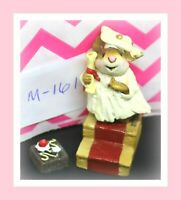 ❤️Wee Forest Folk M-161 Commencement Day Graduate White Robe Mouse Figure❤️