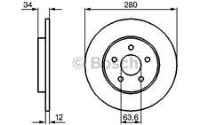 BOSCH Juego de 2 discos freno 280mm FORD MONDEO JAGUAR X-TYPE 0 986 479 068