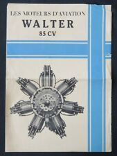 Brochure publicitaire MOTEURS WALTER 85CV  biplan avion aviation