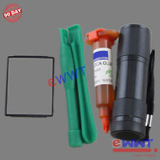 Replacement Main Front Lens Screen Glass+UV Glue for iPod Nano 4th Gen 4 ZJGS049