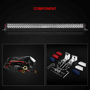 40INCH LED Light Bar Dual Row Combo Beam Work Driving Off Road 4WD White