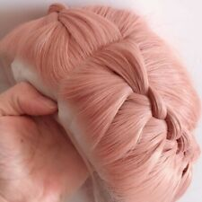 US 24inch Synthetic hair Lace front wigs Daily use Straight Handtied Smoke Pink