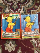 'Sooty' playing xylophone Tower Jigsaw - 48 Pieces No.1220 Rare Vintage 9x7in.