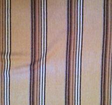 LEE JOFA Mulberry Twelve Bar Stripe Sand Natural Wool Linen Remnant New