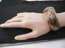 New Elegant Women Bracelet Sexy Metal Snake Skin Animal Printed Gold Metal Base
