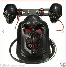 Motorcycle,black,skull,stop,Tail,light,indicators,chop,rat,bobber,trike,chopper,
