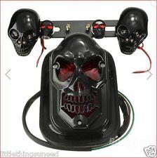 Motorcycle,black,skull,stop,Tail,light,indicators,chop,rat,bobber,trike,chopper,