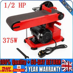 375W Bench Belt and Disc Sander Grinder Wood Sanding Benchtop 1/2 HP Motor 220V