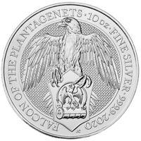 2020 U.K. 10 Pound Silver Queen's Beast Falcon .9999 10 oz BU in Capsule