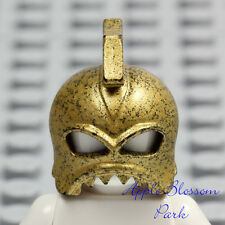 NEW Lego Atlantis Portal Emperor GOLD BATTLE HELMET Castle Minifig Headgear 8078