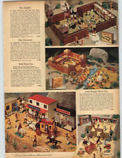 1969 PAPER AD Toy Fort Apache Cheyenne Lone Ranger Silver City Service Station