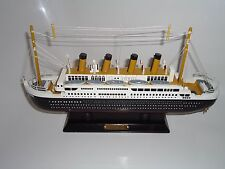 Model Titanic Ship On Stand Made From Wood with lots of detail - Maritime/Boat s