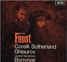 Gounod: Faust / Bonynge, Sutherland, Corelli, Ghiaurov - LP Decca MET 327-30