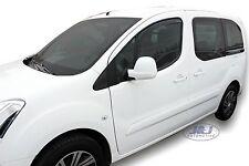 Peugeot Partner 2008-2015  Front wind deflectors  2pc set TINTED HEKO