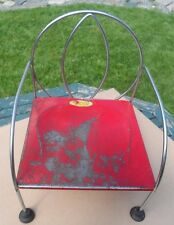 Jack and Jill kiddie  chair,    vintage,  metal in good condition, 1950's