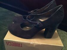 New Women's Tribeca My Fair Lady Almond Toe Mary Jane Turf Style Pumps-Size 10