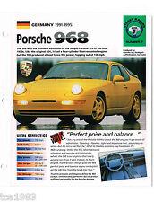 PORSCHE 928/944/959/968 FOLLETOS/ROAD Tests Colección