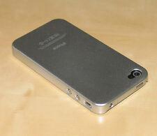 Silver Cubierta Trasera Dura de la piel Funda para Apple iPhone 4g