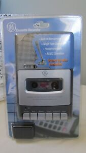 GE Cassette Recorder 3-5030, Build-in Microphone Standup Mic Included NIB