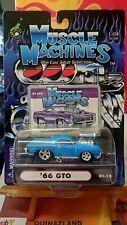 Muscle Machines '66 Pontac GTO bleu (9962)