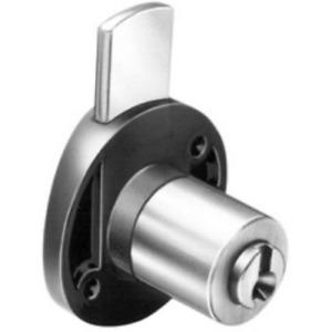 serrure verticale à appliquer pour meuble cylindrique Ø 16,5x20 mm