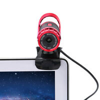 360°USB 2.0 1080P HD WebCam Web Video Camera Clip-on MIC for PC Skype MSN NEW#M
