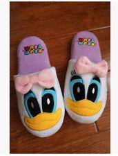Disney TSUM TSUM Daisy duck plush indoor shoes slippers one pair QA51 Warm gift