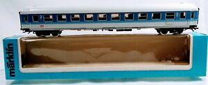 Marklin HO 4282 DB InterRegio Passenger Car 2nd. Class. Blue & White - Metal