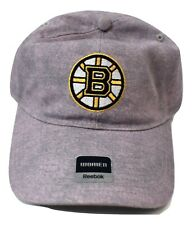 Reebok Womens NHL Face-Off Boston Bruins Lavender Strapback Hat Cap New